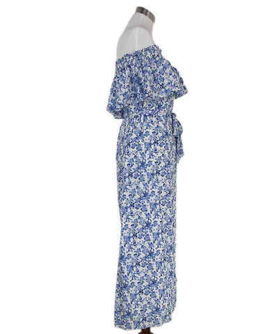 Rebecca Taylor blue white floral dress 1