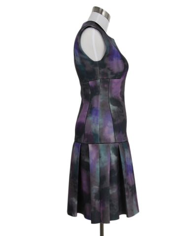 Rebecca Taylor Grey Purple Polyester Dress 1