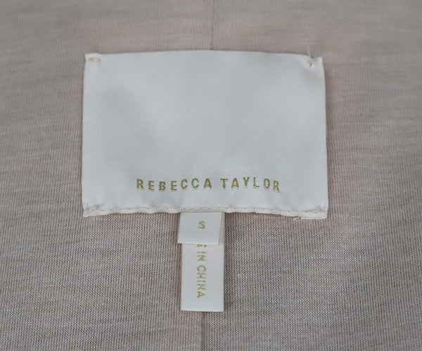 Rebecca Taylor Grey Charcoal Leather Jacket 4