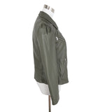 Rebecca Taylor Grey Charcoal Leather Jacket 2