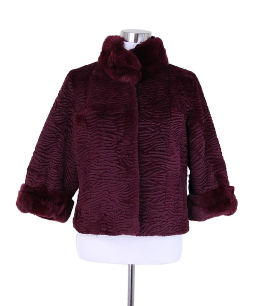 Red Burgundy Rabbit Jacket 1