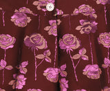 Manoush Burgundy Pink Floral Polyester Pants 5