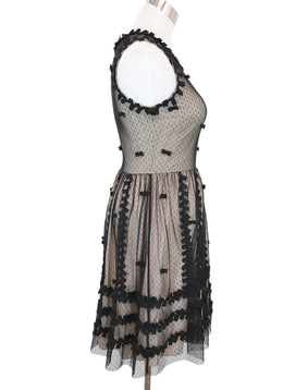 Red Valentino Black Nude Lace Dress 2