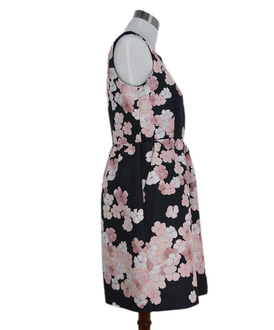 Red Valentino black pink floral dress 1