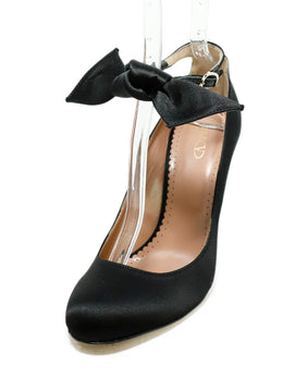 Red Valentino Black Satin Bow Detail Heels 1