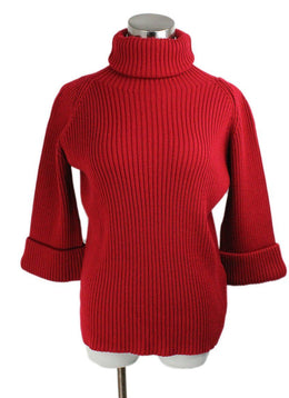Red Valentino Red Wool Turtleneck Sweater 1