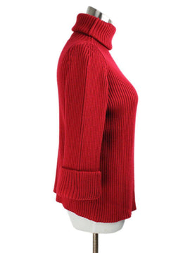 Red Valentino Red Wool Turtleneck Sweater 2