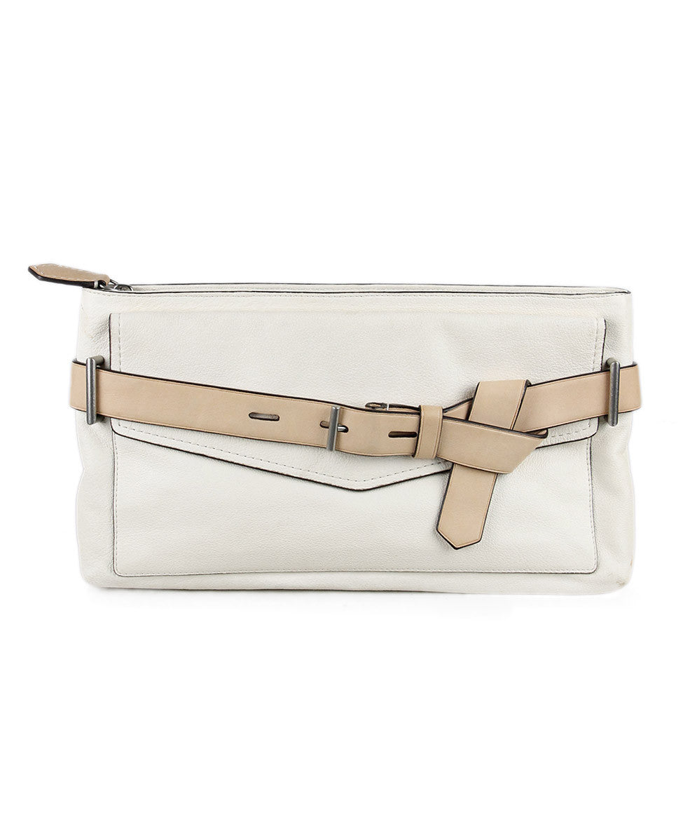 Reed Krakoff Cream Leather Clutch