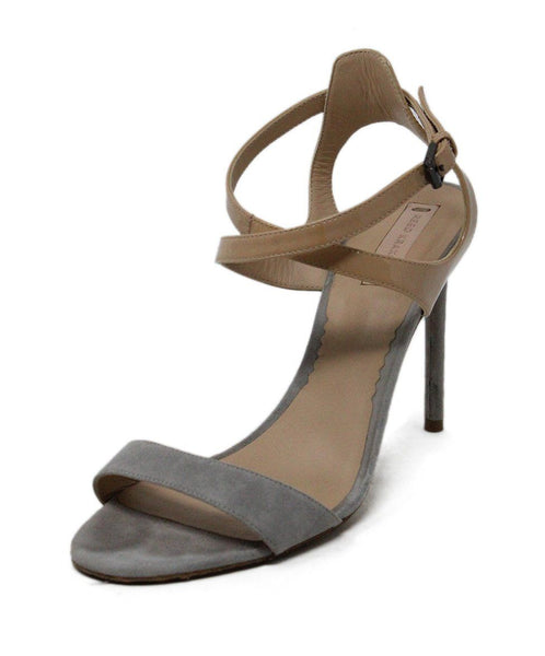 Reed Krakoff Nude Grey Suede Patent Leather Heels