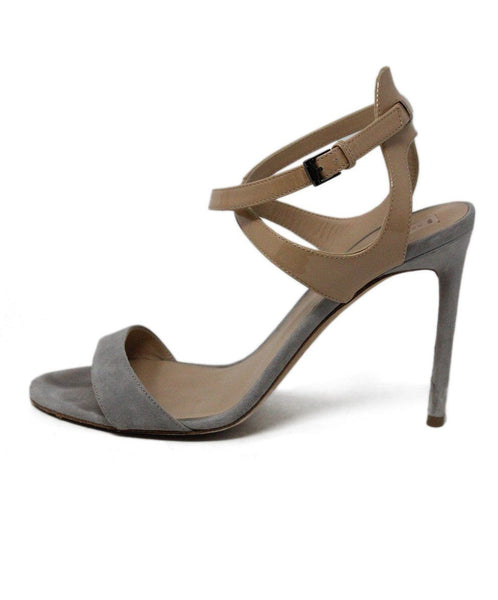 Reed Krakoff Nude Grey Suede Patent Leather Heels 1