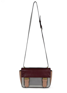 Reed Krakoff Neutral Burgundy Leather Crossbody Handbag 1