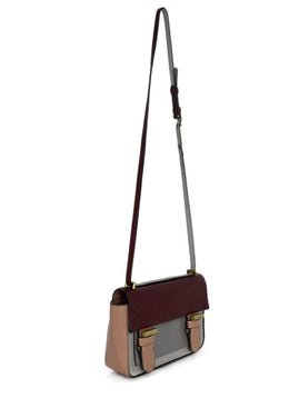 Reed Krakoff Neutral Burgundy Leather Crossbody Handbag 2