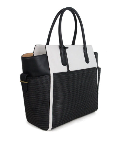 Reed Krakoff black white tan leather Tote 1
