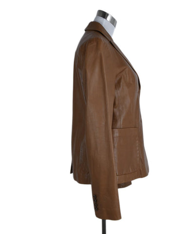 Reed Krakoff Brown Tan Leather Jacket 1