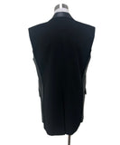 Vest Reed Krakoff Size 10 Black Wool Leather Outerwear