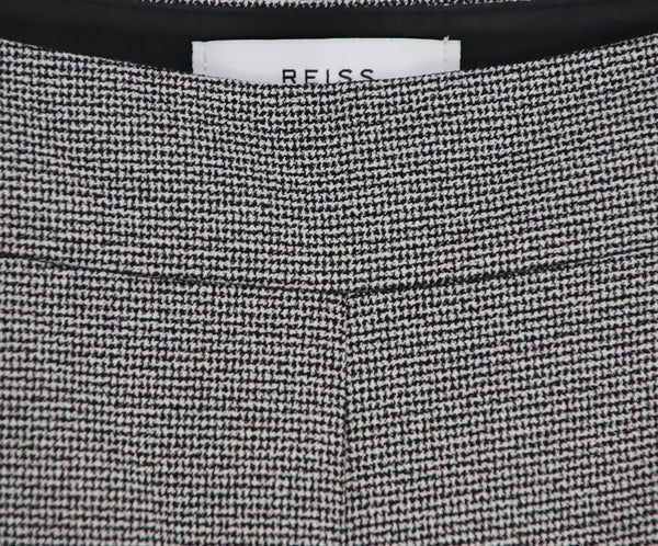 Reiss Black White Cotton Pants 4