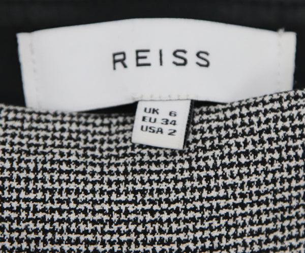 Reiss Black White Cotton Pants 3