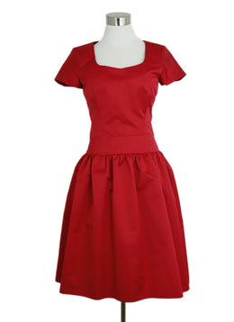 Reiss Red Polyester Dress 1