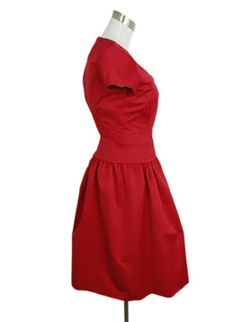 Reiss Red Polyester Dress 2