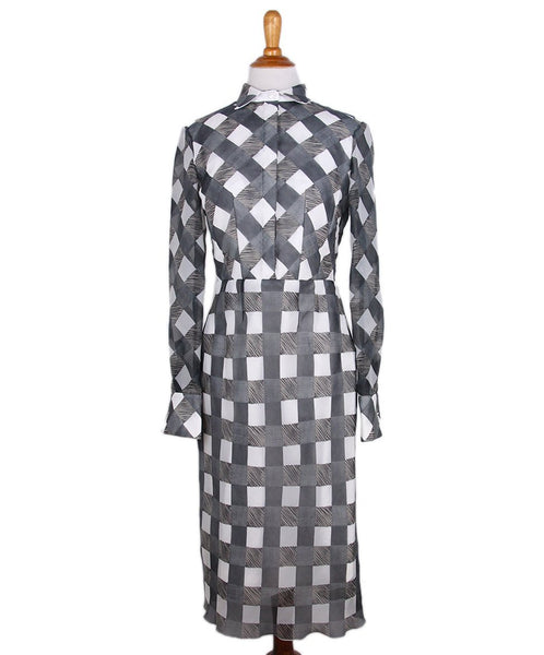 Rimondi Grey White Print Cotton Dress 1