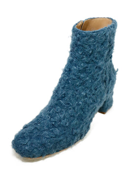 Ritch Erani Blue Faux Fur Booties 1
