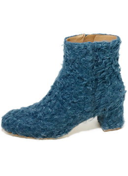 Ritch Erani Blue Faux Fur Booties 2