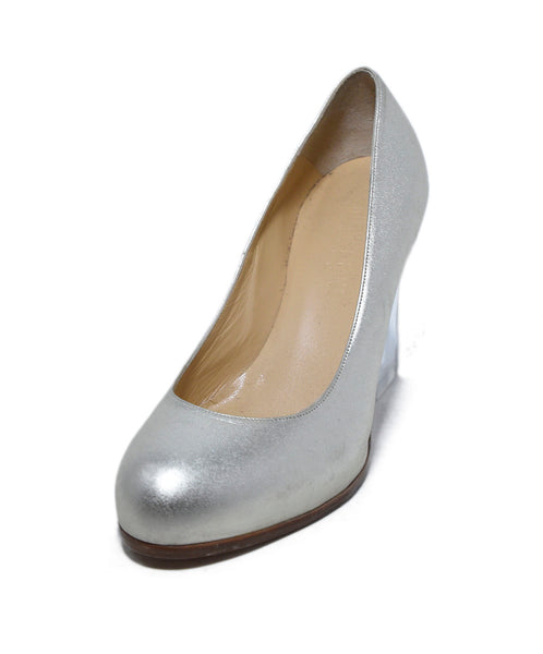 Ritch Erani Metallic Champagne Leather Heels 1