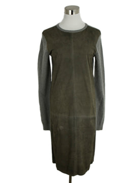 Ralph Lauren Grey Cashmere Suede Dress 1
