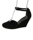 Robert Clergerie Black Suede Wedges 2