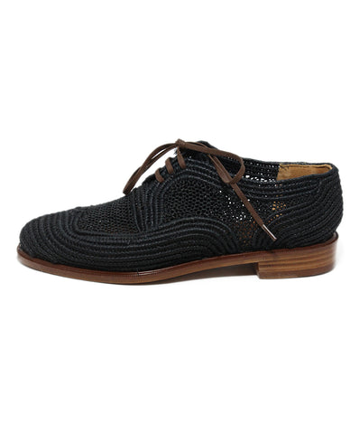 Robert Clergerie Black raffia shoes 1