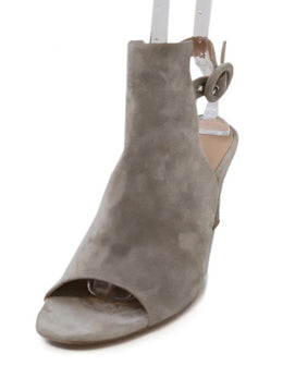 Robert Clergerie Grey Suede Wedge