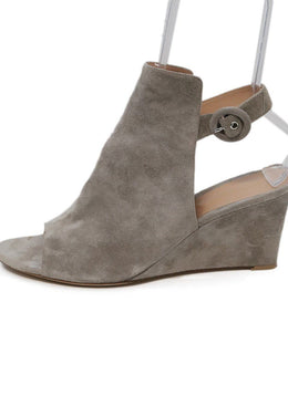 Robert Clergerie Grey Suede Wedge 1