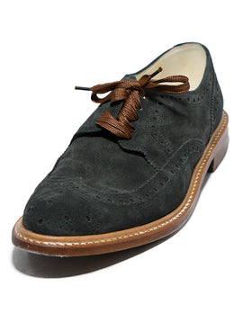 Robert Clergerie Oxford Green Suede Shoes 1