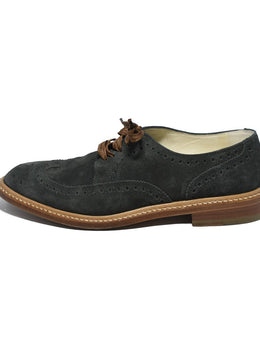 Robert Clergerie Oxford Green Suede Shoes 2