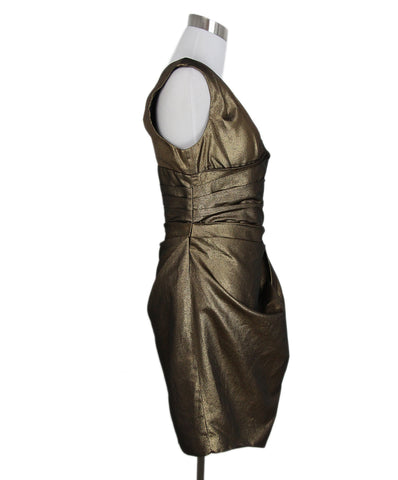 Robert Rodriguez metallic gold dress 1