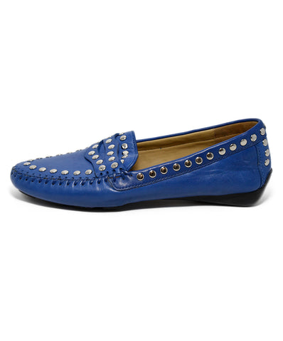 Robert Zur Loafers Blue Leather Studs Shoes 1
