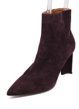 Robert Clergerie Purple Plum Suede Booties 1