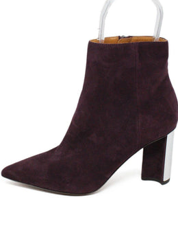 Robert Clergerie Purple Plum Suede Booties 2