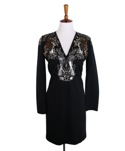 Roberto Cavalli Black Metallic Sequin Dress 1