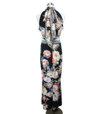 Roberto Cavalli Black White Floral Viscose Dress 3