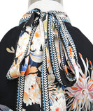 Roberto Cavalli Black White Floral Viscose Dress 5