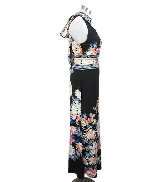 Roberto Cavalli Black White Floral Viscose Dress 2