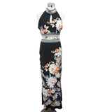 Roberto Cavalli Black White Floral Viscose Dress 1