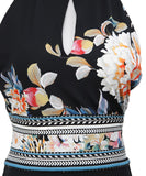 Roberto Cavalli Black White Floral Viscose Dress 6