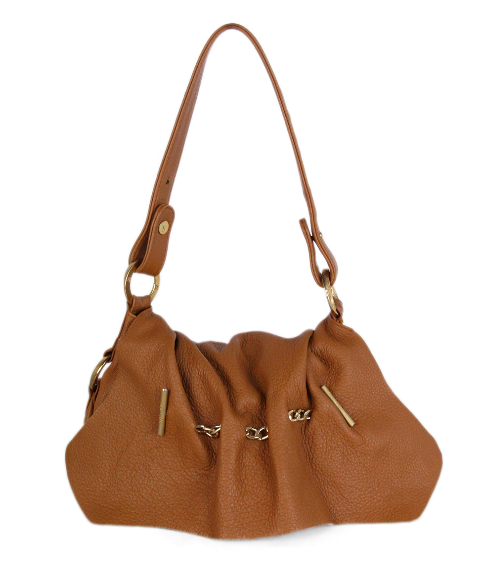 Roberto Cavalli Neutral Brown Leather Handbag 1