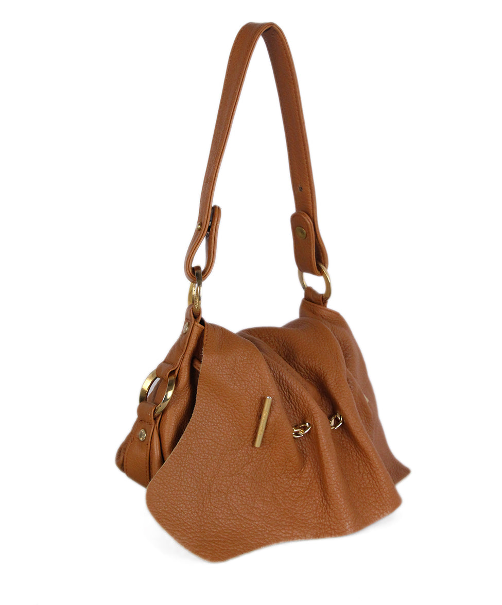 Roberto Cavalli Neutral Brown Leather Handbag 2