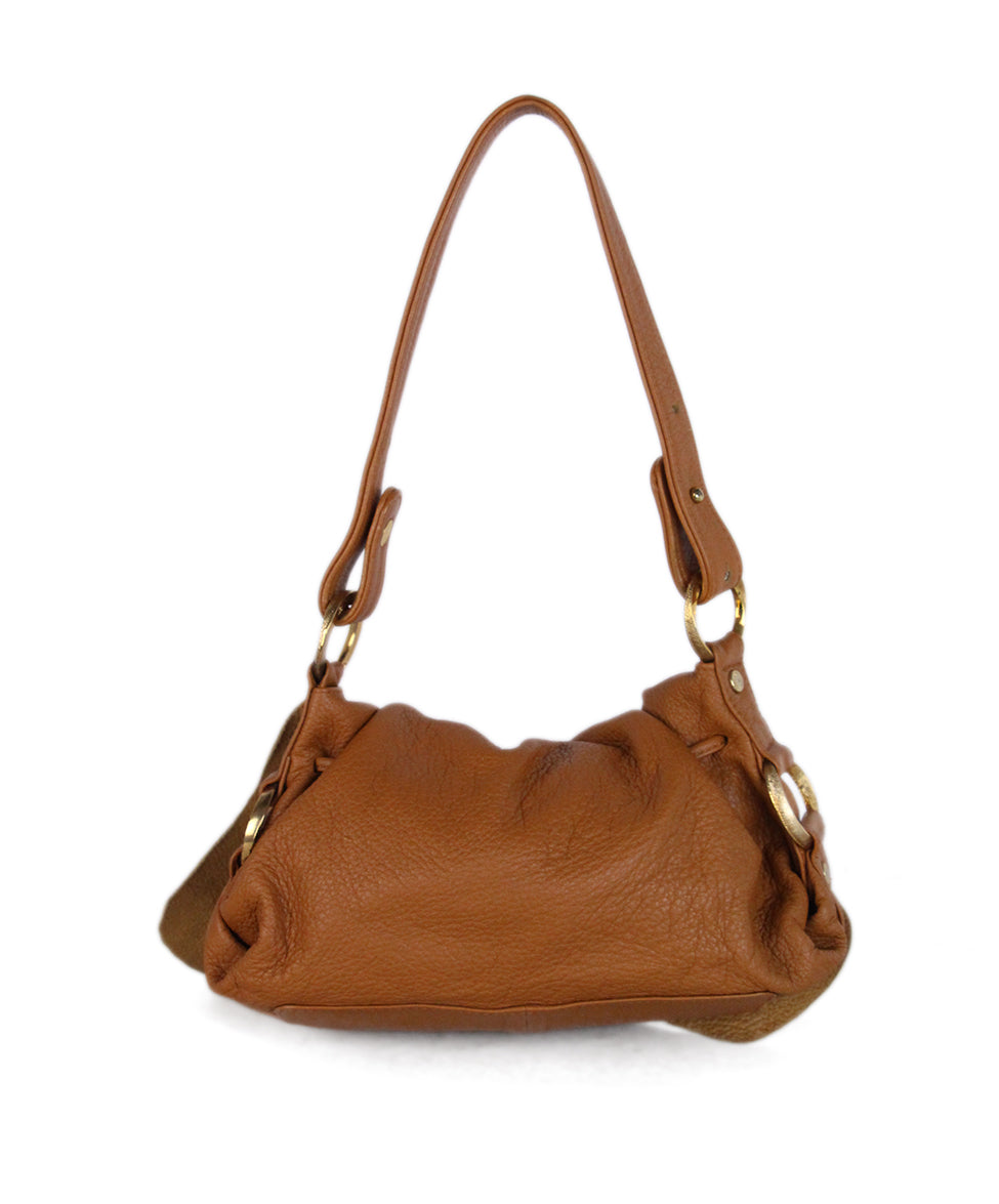Roberto Cavalli Neutral Brown Leather Handbag 3