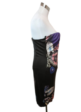 Roberto Cavalli Purple Brown Print Acetate Polyamide Dress 2