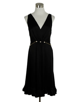 Roberto Cavalli Black Silk Evening Dress 1