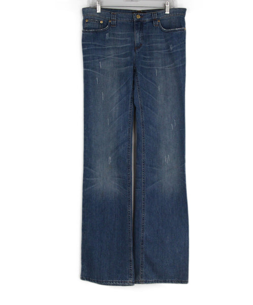 Roberto Cavalli Blue Denim Blue Pants 1